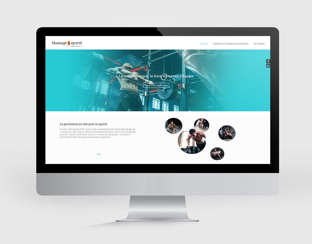 Design Web JV Massage sportif