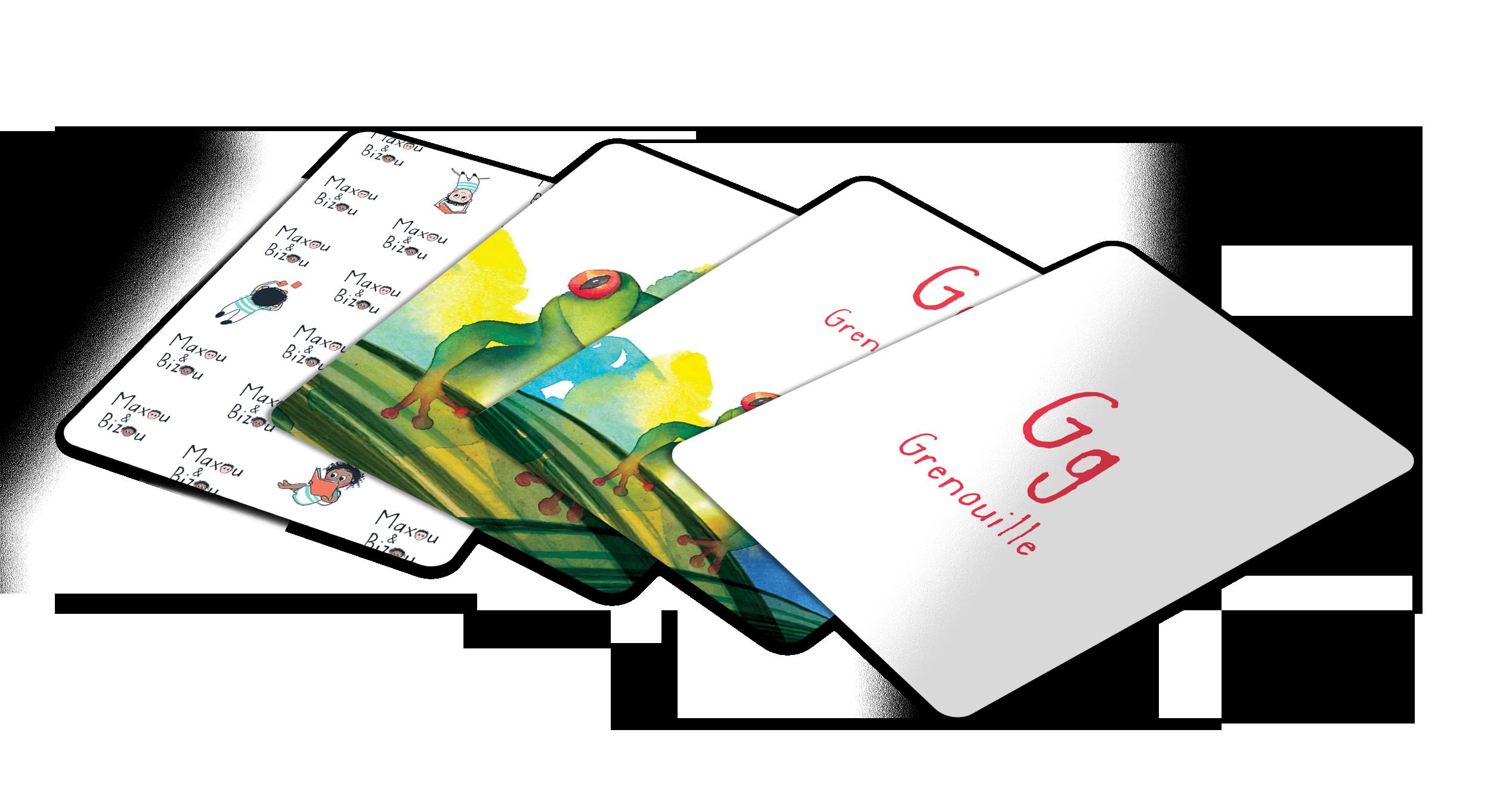 Cartes du jeu de mémoire Maxou & Bizou