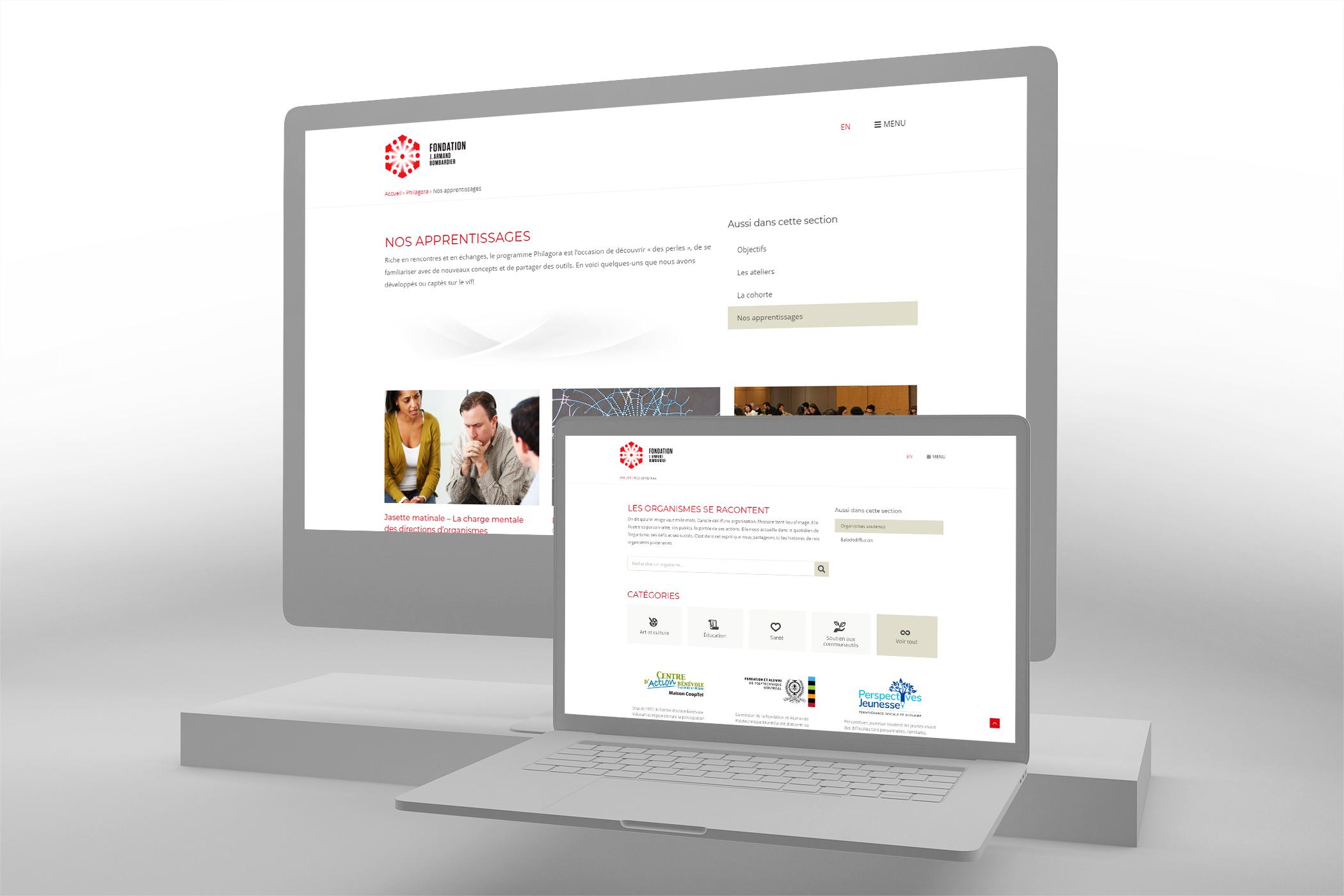 Site web Fondation J.Armand Bombardier - Philanthropie
