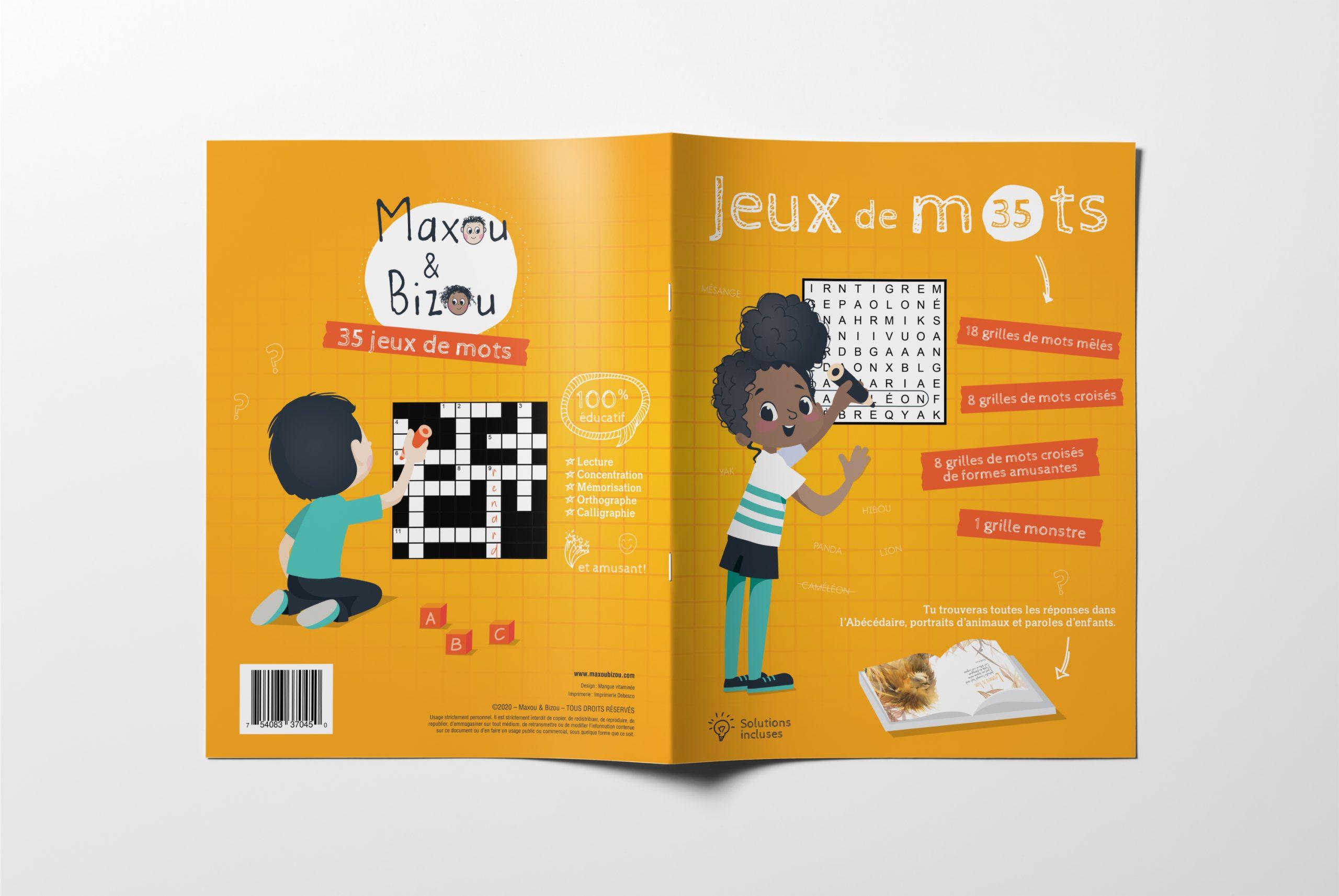 Cahier d'activités - Jeux de mots de Maxou & Bizou