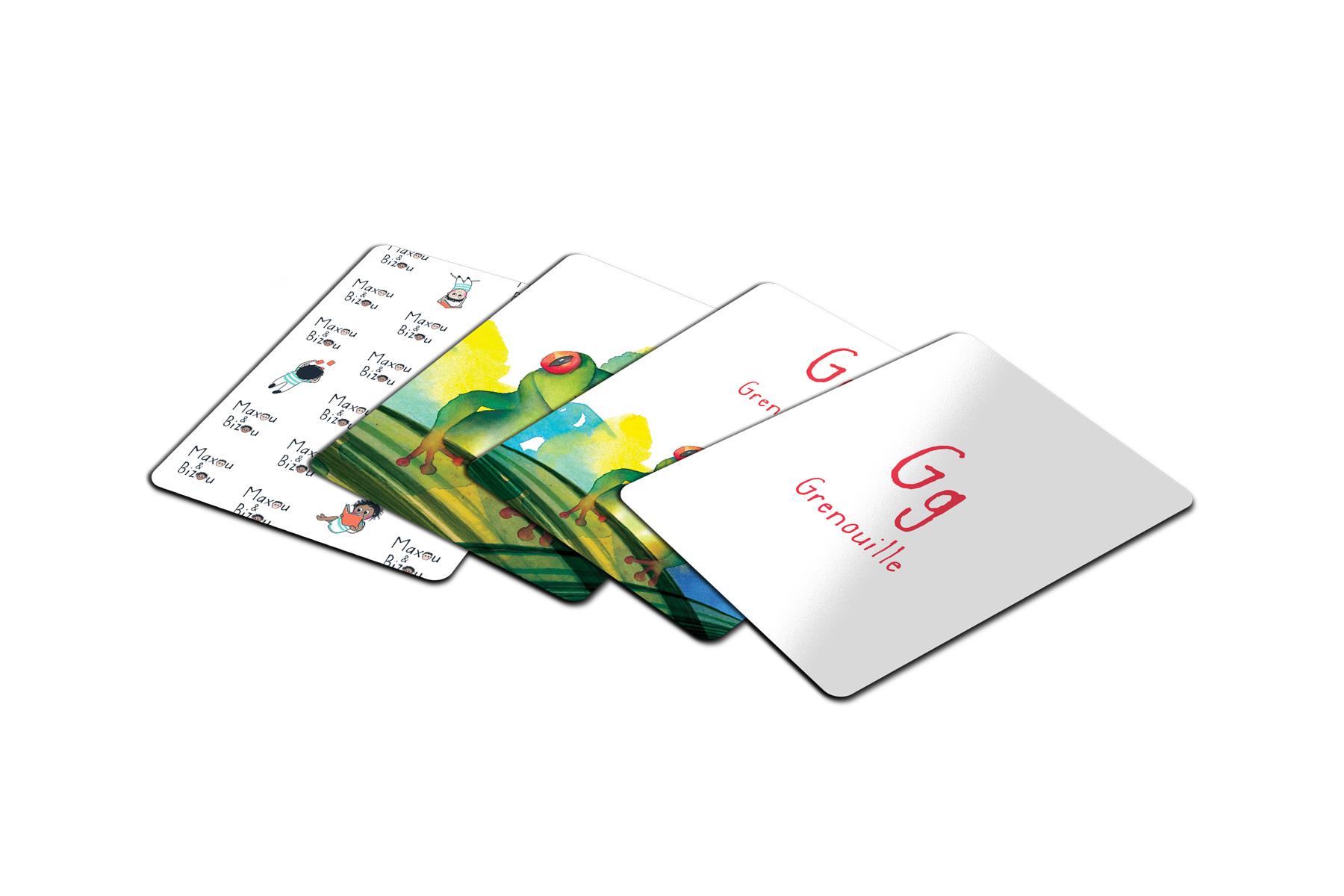 Cartes du jeu de mémoire de Maxou & Bizou