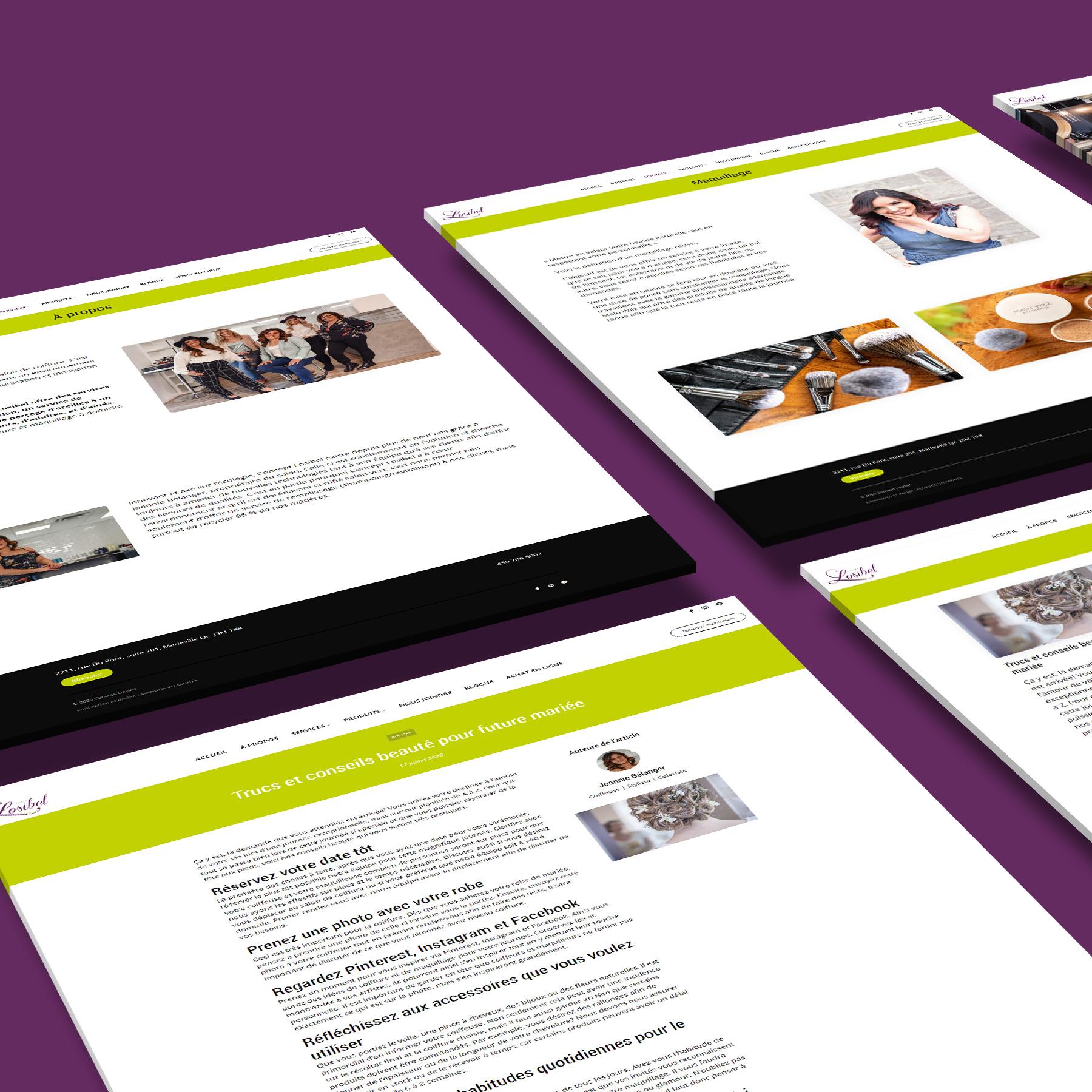 Site web Concept Losibel