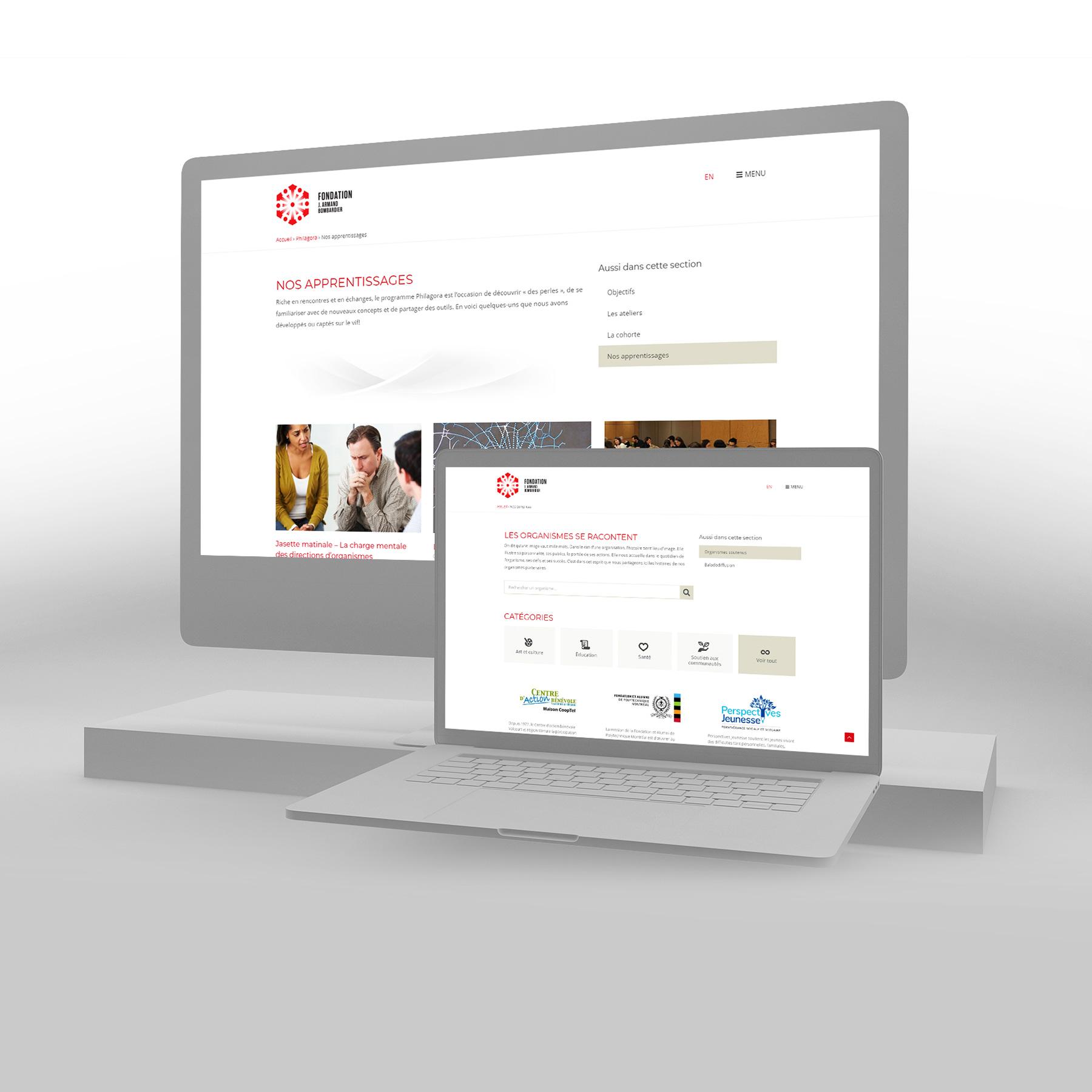 Site internet de la Philanthropie de la Fondation J. Armand Bombardier